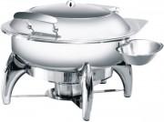 Chafing dish rond à hublot - Capacité : 5 L