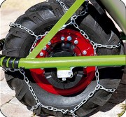 Chaîne pneu neige - Alliage d'acier - Tailles : 10 et 16 cm