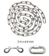 Chaînes pour poteau de guidage - Dimensions : 2 m x 6 mm