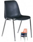 Chaise assemblable et empilable - Coque en polypropylène pur - Divers coloris