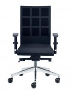 Chaise avec dossier haut en polyester