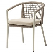 Chaise Bistrot avec coussin - Chaise pour restaurant en aluminium et textilène