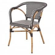 Chaise Bistrot em rotin synthétique - Chaise pour restaurant en rotin synthétique
