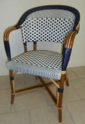 Chaise bistrot en Rilsan et Rotin - Matériaux de construction : Rilsan et Rotin