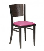 Chaise bois à dossier perforé