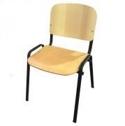 Chaise bois empilable - L 550 x P 485 x H 830 mm