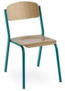 Chaise bois pour salle de cours - 2 Modèles : Empilable ou empilable et accrochable