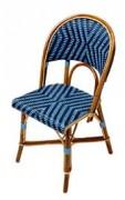 Chaise café en Rotin - Matériaux de construction : Rilsan et Rotin