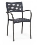 Chaise café restaurant - Dimensions (L x P x H) cm : 56 x 54 x 86