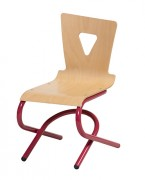 Chaise cantine 4 pieds alu - Maternelle