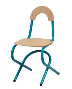 Chaise cantine appui sur table - Alu