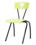 Chaise cantine avec 4 pieds en acier - Secondaire
