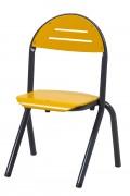 Chaise cantine en aluminium - Appui sur table
