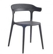 Chaise collectivité empilable - Hauteur : 77 cm - Profondeur : 51 cm