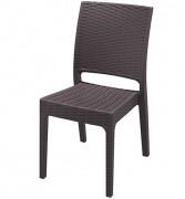 Chaise collectivités médaillon - Structure acier 20 x 20 x 1 mm