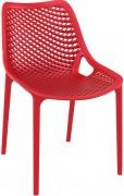 Chaise coque plastique d'extérieur - Pieds aluminium anodisé ou Version Monobloc polypropylène