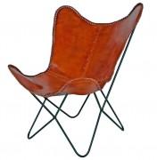 Chaise cuir - Dimensions : 74 x 80 x 87 cm