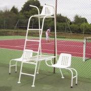 Chaise d'arbitre acier - Pieds orientables et réglables en hauteur
