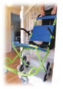 Chaise d'évacuation 3 roues - Capacité de charge maximale : 90 kg
