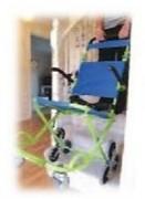Chaise d'évacuation 3 roues pour domicile - 90 kg - Construction robuste pour une sécurité optimisée