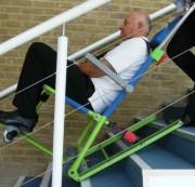 Chaise d'évacuation pour handicapés - Évacuation d'urgence de personnes à mobilité réduite