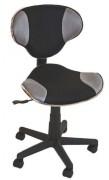 Chaise dactylo sans accoudoirs - Piètement 5 branches avec roulettes pour tout sols.