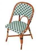 Chaise de bar en Rotin et Rilsan - Matériels :  Rotin et Rilsan