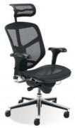 Chaise de bureau résille avec accoudoirs - Siège résille réglage synchrone
