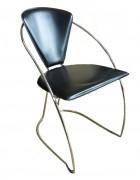 Chaise de bureau simili cuir d'occasion - Dimensions de dossier : L.49 x H.43 cm