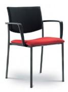 Chaise de conférence empilable polyester - Composition : 100 % polyester - Piétement quatre pieds