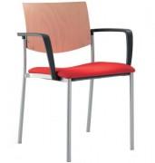 Chaise de conférence empilable quatre pieds