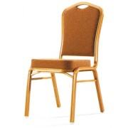 Chaise de conférence en aluminiun - Rembourrée en tissu