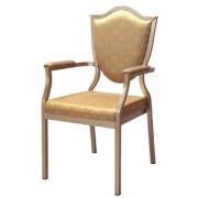 Chaise de conférence rembourré - Structure aluminium