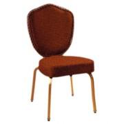 Chaise de conférence structure aluminium - Rembourrée en tissu structure aluminium