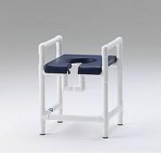 Chaise de douche avec assise rembourrée - Charge maxi : 150  kg