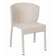Chaise de jardin alu assise tressée - Dimensions (L x l x h) : 59 x 54 x 78 cm