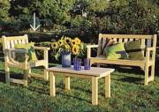 Chaise de jardin en bois - Dimensions (L xlxH) : 64 x 61 x 89 cm