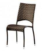 Chaise de jardin en fibre tressée - Dimensions (L x l x h) cm : 65 x 48 x 90