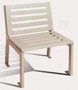 Chaise de jardin sans accoudoirs - Longueur : 600 mm