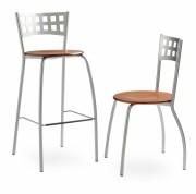 Chaise de restaurant - Disponible en 2 modèles: Assise hêtre teinté acajou - Assise garnie en tissu ou tissu enduit