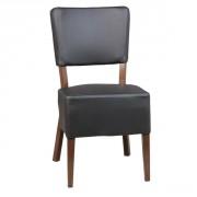 Chaise de restaurant en acier - Matière : simili cuir - Dim: (L x P x H) 44 x 49 x 83 cm