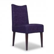 Chaise de restaurant en acier et dossier rembourré - Hauteur d'assise : 49 cm