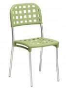 Chaise de restaurant en aluminium - Dimensions (L x P x H) cm : 45.5 x 49.5 x 85.5