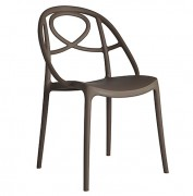Chaise de restaurant en polypropylène - Hauteur : 84 cm - Profondeur : 57 cm