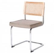 Chaise de restaurant en rotin et tissu - Chaise de restaurant de style Mid Century en rotin et tissu