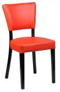 Chaise de restaurant en simili cuir - Hauteur d'assise (cm) : 45.5