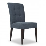 Chaise de restaurant rembourée en acier - Hauteur d'assise : 45 cm