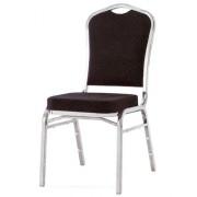 Chaise de réunion en acier - Chaise rembourrée en tissu
