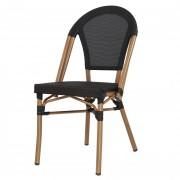 Chaise de style Bistrot - Chaise de restaurant en aluminium et textilène