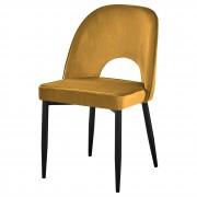 Chaise de style contemporain - Chaise de style contemporain avec structure en acier et en bois